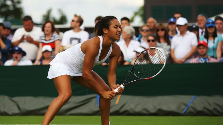 Heather Watson: Looking to cause an upset on Centre Court on Thursday