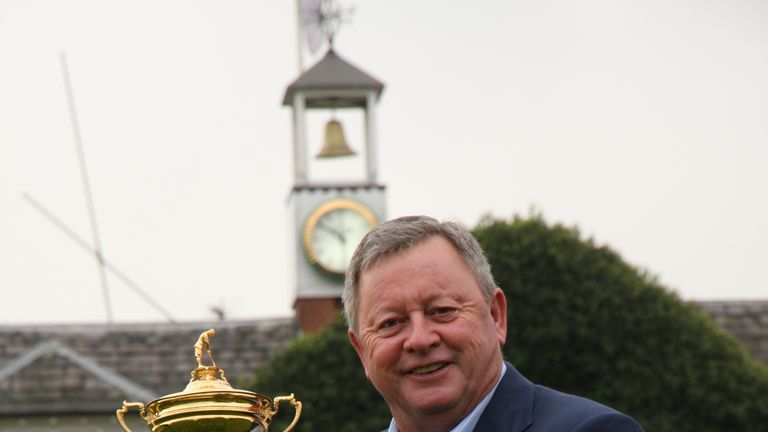 Ian Woosnam with the Ryder Cup at the Belfry