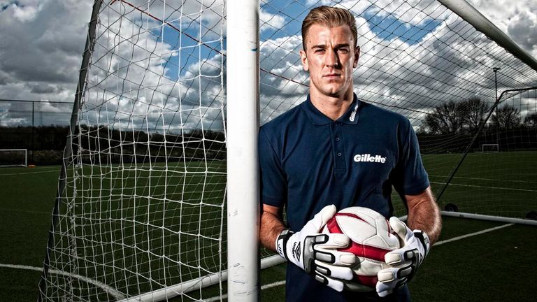 Joe Hart: A study has highlighted the England goalkeeper's ability to read his opponents