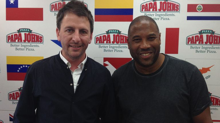 John Barnes (right) with John Fendley