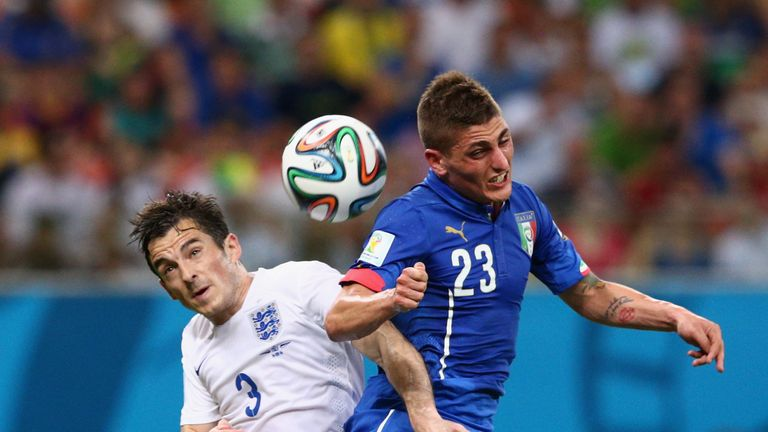 Baines (left): Struggled against Italy