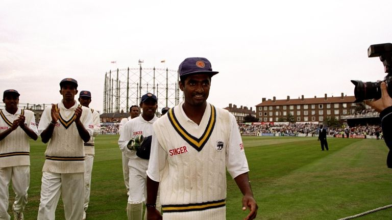 Muralitharan: 16 wickets at The Oval in 1998