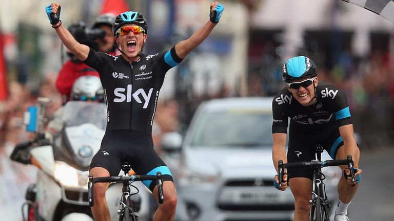 Peter Kennaugh upset the odds by out-sprinting Ben Swift