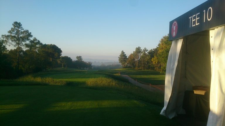 The 10th tee at  PGA Catalunya