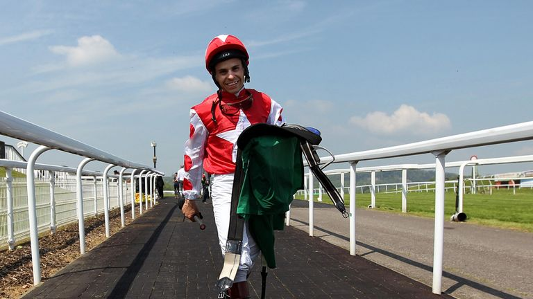 Jockey Raul Da Silva: Taken to hospital