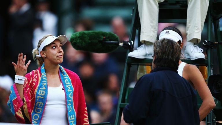 Sabine Lisicki: leads 6-4 1-1 against Ana Ivanovic