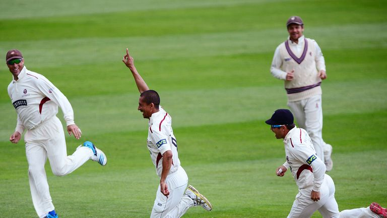 Alfonso Thomas: Made history at Taunton, taking four wickets in as many deliveries
