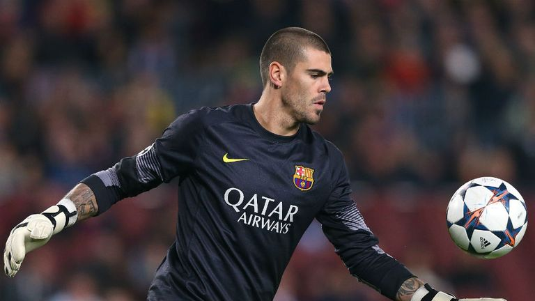 Victor Valdes: Was set to leave Barcelona at the end of his contract