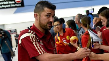 David Villa: Says it is time to step away from international football