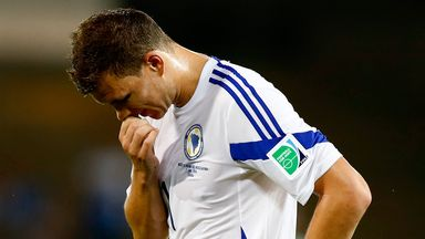 Edin Dzeko: Hit out at the referee after Bosnia were sent crashing out of the World Cup