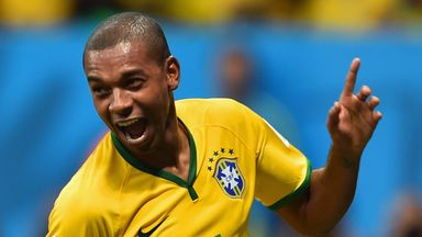 Fernandinho: Determined to help Brazil reach the World Cup semi-finals
