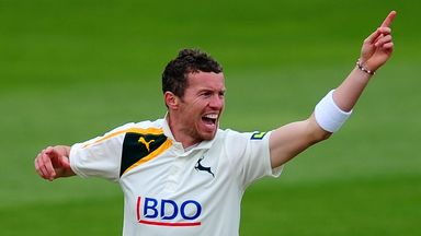 Peter Siddle: In action for Notts last season