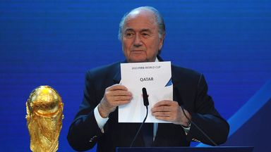 Sepp Blatter unveils Qatar as hosts of 2022 World Cup
