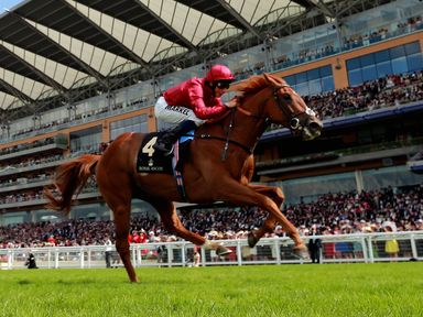 Eagle Top ridden by William Buick on their way to victory in the King Edward VII Stakes during Day Four of the 2014 Royal Ascot Meeting at Ascot Racecourse