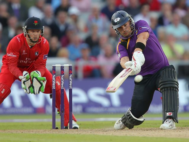 Aaron Finch hit a blistering 88 for Yorkshire
