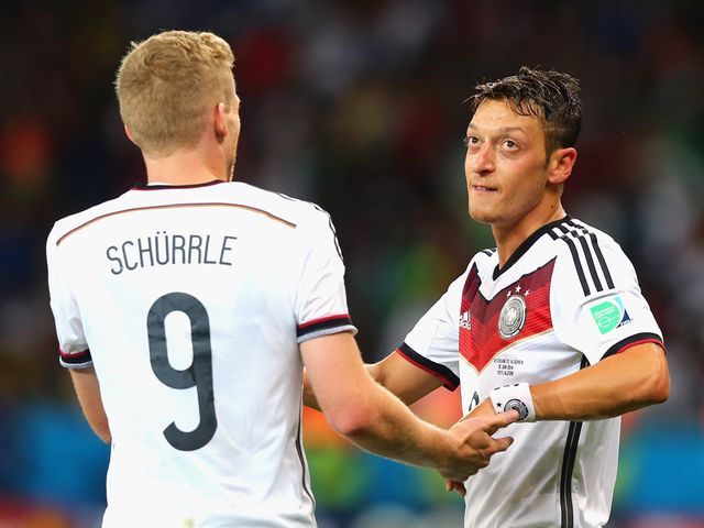Andre Schurrle and Mesut Ozil scored Germany's goals