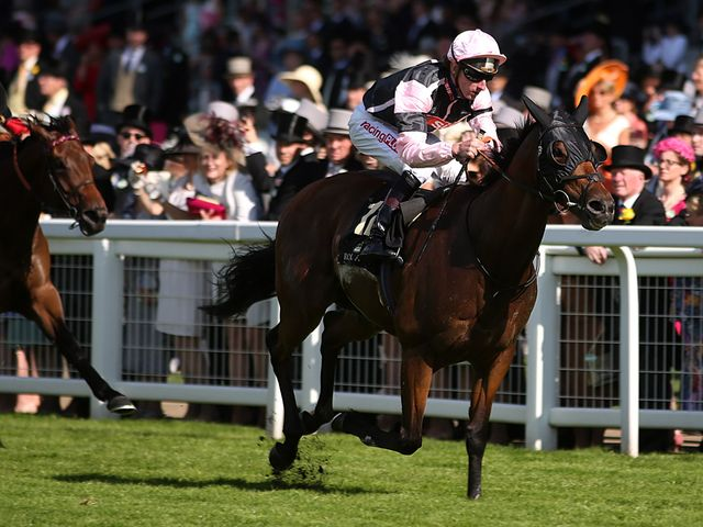 Field of Dream ridden by jockey Adam Kirby on the way to winning the Royal Hunt Cup