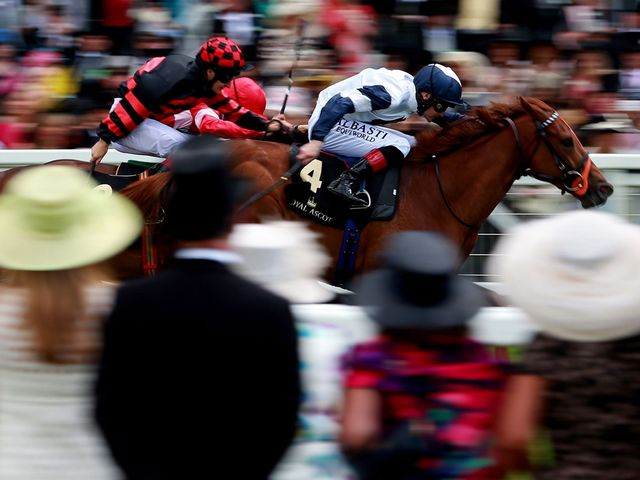 Anthem Alexander ridden by Pat Smullen on their way to victory in the Queen Mary Stakes