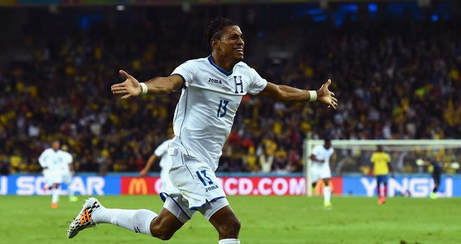 Carlo Costly: Celebrates opening goal