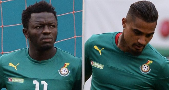 Sulley Muntari and Kevin-Prince Boateng: Kicked out by Ghana FA