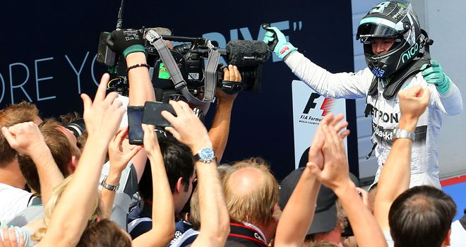 A third win of 2014 for Nico Rosberg extends his points lead