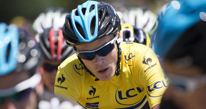 Chris Froome fought off an attack from Alberto Contador to retain the race lead.