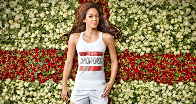 Katarina Johnson-Thompson hopes for people to tweet their support with #Go England