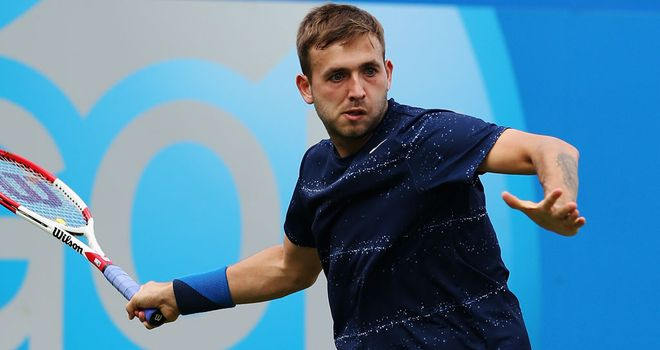 Dan Evans: Suffered a first round loss on day one at Eastbourne