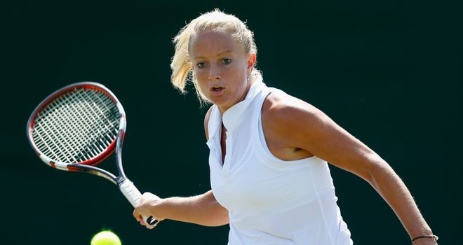 Emily Webley-Smith: Was beaten in three sets by Montenegro's Danka Kovinic