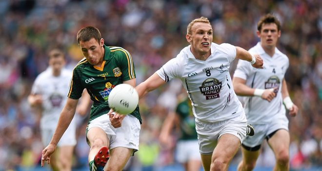 Meath's Damien Carroll is tackled by Tommy Moolick