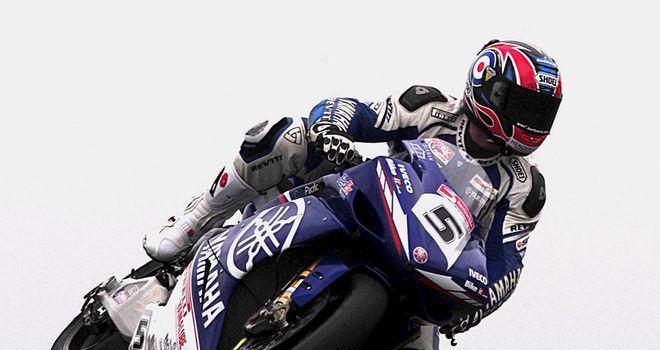 Karl Harris pictured in his British Superbike days