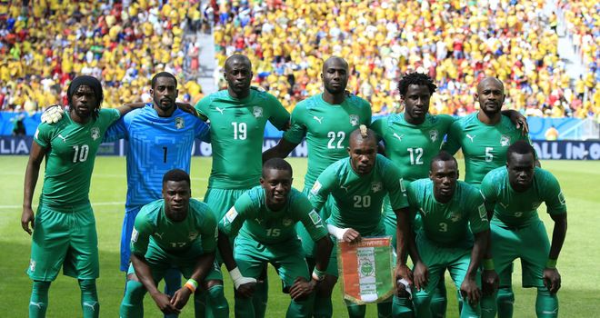 Ivory Coast squad: Tasked with securing continental crown