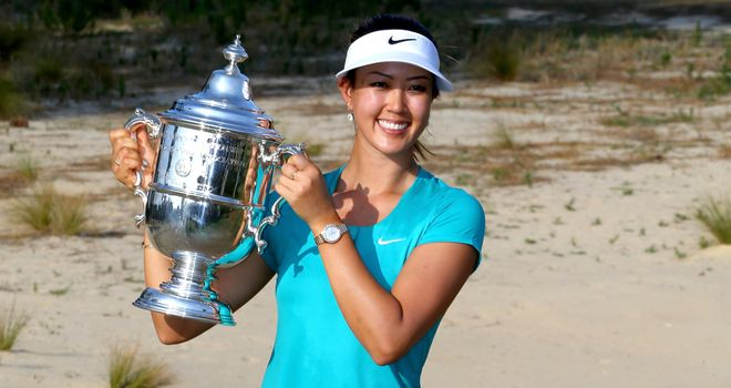 Michelle Wie: Held on for a two-shot win at the US Women's Open
