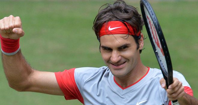 Roger Federer: The Swiss star beat Alejandro Falla in the final of the Gerry Weber Open
