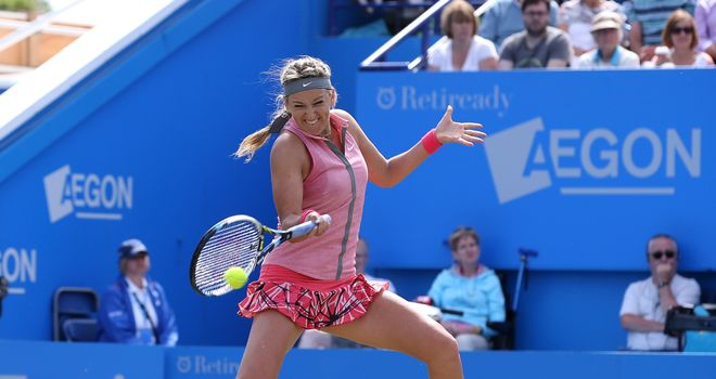 Victoria Azarenka: Lost to Camila Giorgi in first WTA match since March