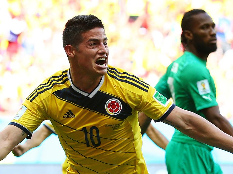 The impressive James Rodriguez can guide Colombia to the quarters
