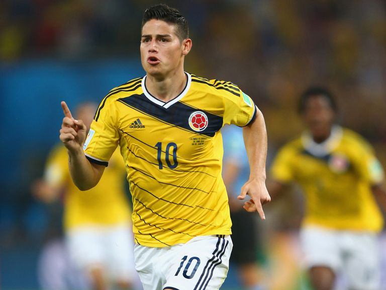 James Rodriguez took his tally to five goals for the tournament