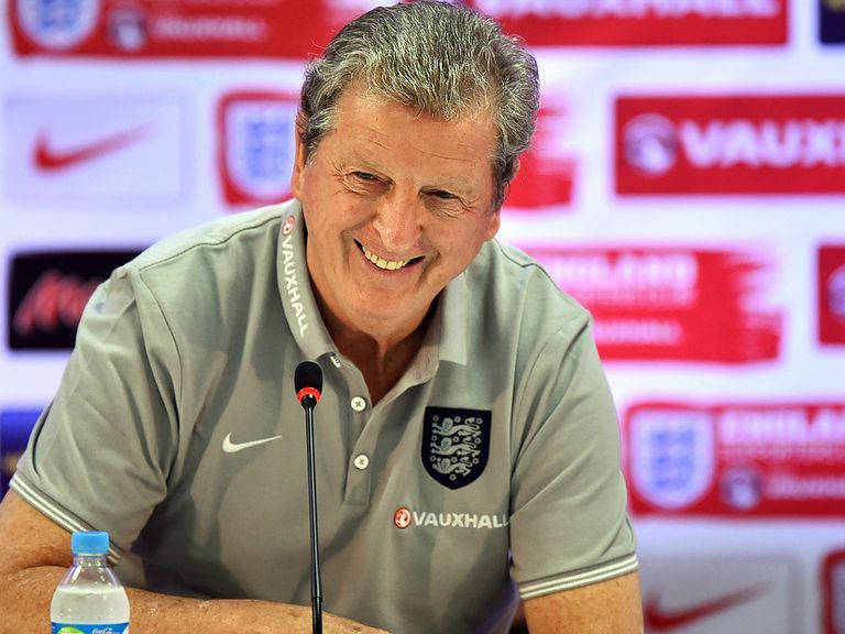 England manager Roy Hodgson is all smiles