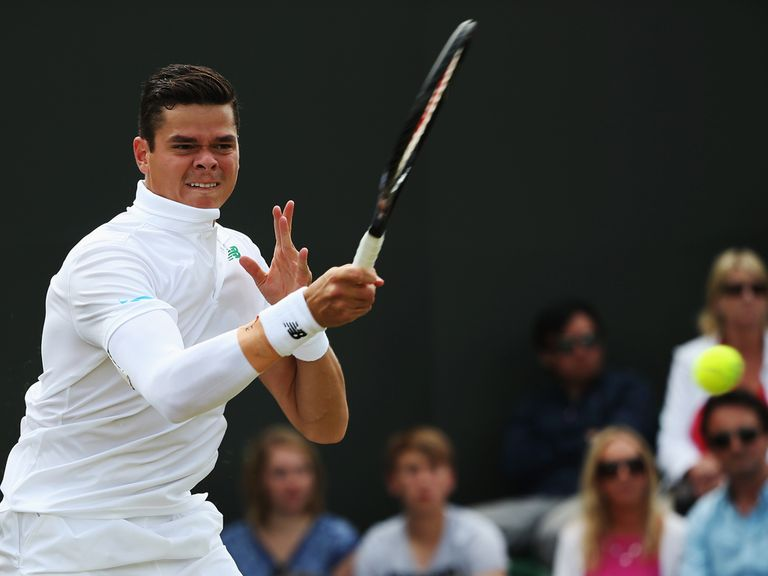 Milos Raonic takes on Roger Federer in the second semi-final on Friday