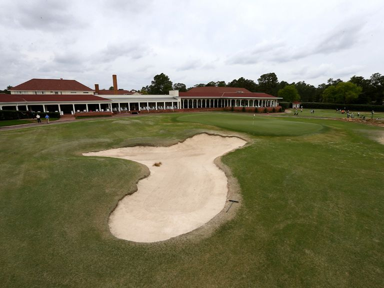The 18th hole at the Pinehurst Resort