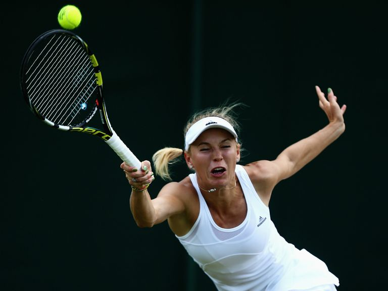 Caroline Wozniacki: Became the second high-profile victim of Strycova