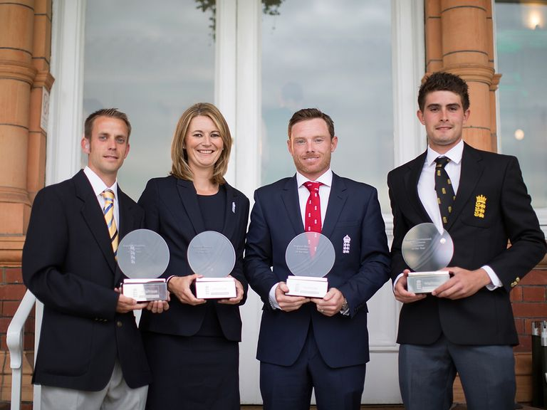 The four award winners on Monday at Lord's