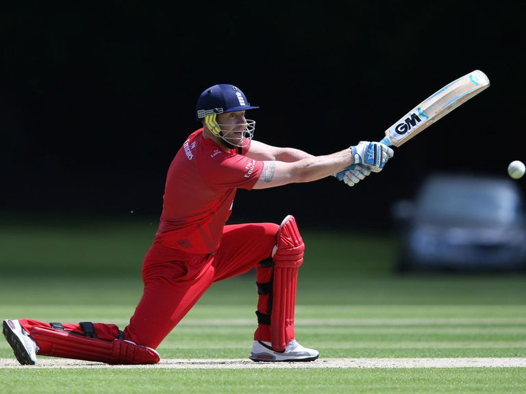 Andrew Flintoff: Played for Lancashire's second XI on Thursday