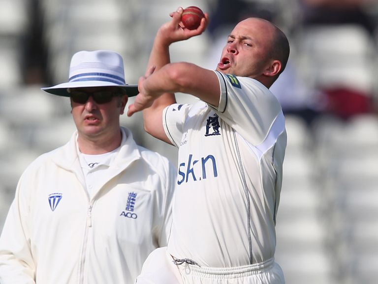 Jonathan Trott: Took a wicket for Warwickshire