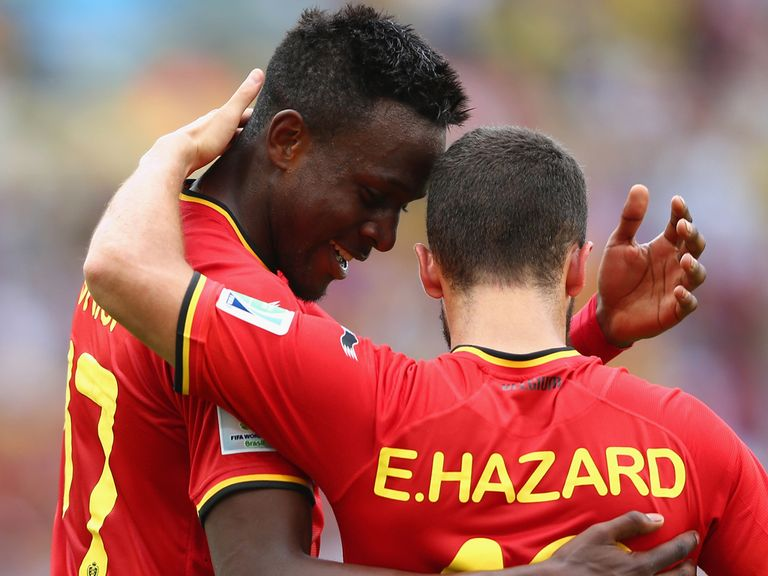 Eden Hazard (right): Set up Belgium's goal against Russia