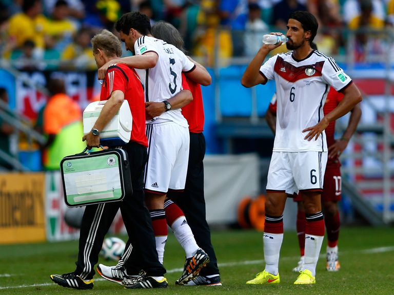Hummels is helped off but feels his injury is not serious