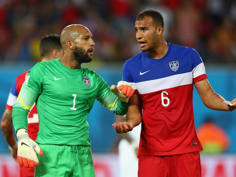 John Brooks (right): Vital goal for the USA to see off Ghana