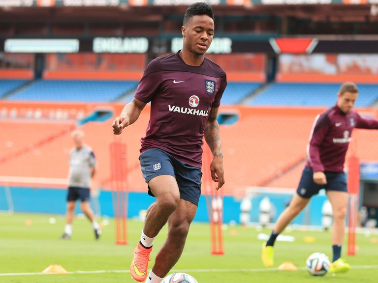 England's Raheem Sterling during a training session at the Sun Life Stadium