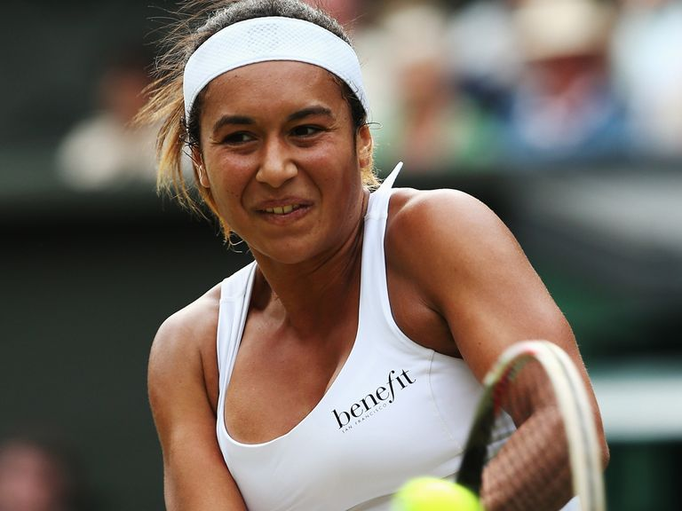 Heather Watson: Through in three sets