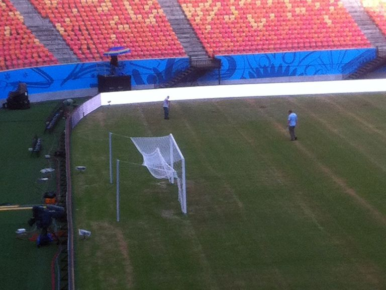 The pitch in Manaus is not in a good state